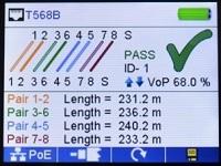 Измерение длины кабеля (каждой пары проводов).