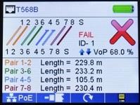 Измерение расстояния до обрыва кабеля.