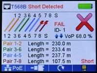 Измерение расстояния до короткого замыкания.